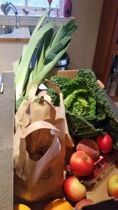 In Touch Therapies lovely fruit and veg box from Ardross Farm Shop